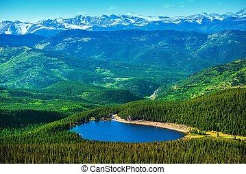Colorado Echo Lake and Mountains Landscape Panorama.