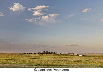 Colorado farmland and prairie