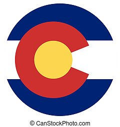Colorado flag vector - Round Colorado state flag vector icon...