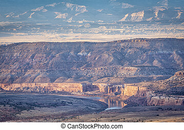 colorado folyó, alatt, horsethief, kanyon