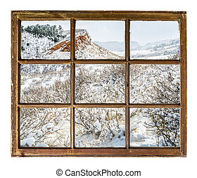 Colorado foothills abstract landscape