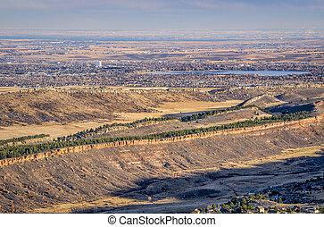 colorado, foothills, e, loveland, de, horsetooth, rocha