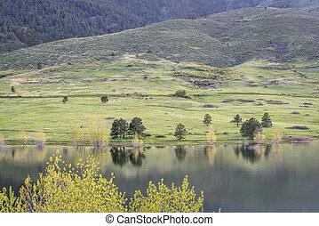 colorado, foothills, em, springtime