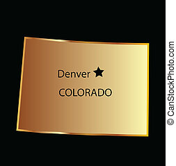 Colorado gold state map