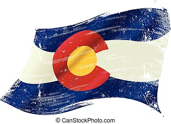Colorado grunge flag - A flag of Colorado with a grunge...