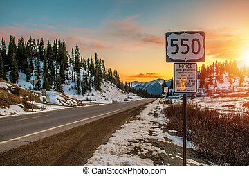 Colorado Highway 550. Famous Million Dollars Highway Near...