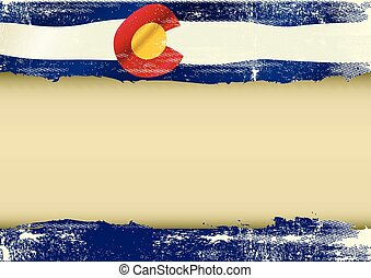 Colorado horizontal scratched flag