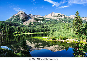 Lost Lake Slough and East Beckwith Mountain in Colorado near Kebler pass