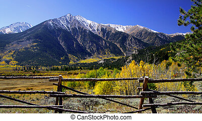 Colorado Landscape - Scenic autumn landscape in Rocky...
