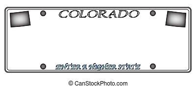 Colorado License Plate - A Colorado state license plate...