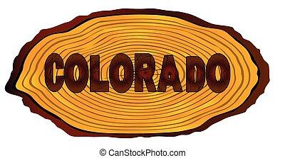 Colorado Log Sign