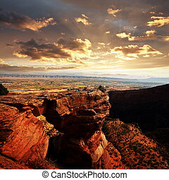 Colorado monument - Colorado Monument in USA