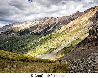Colorado Mountain Peaks in Autumn