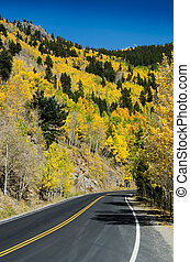 Colorado Mountain Road from Side