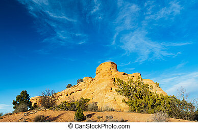 Colorado National Monument Blue Sky Background