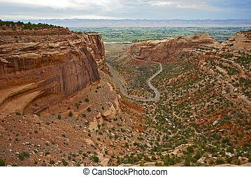 Colorado National Monument in Grand Junction, CO. Canyon...