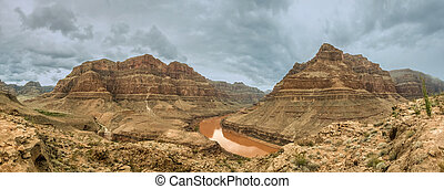 colorado, panorama, grand canyon