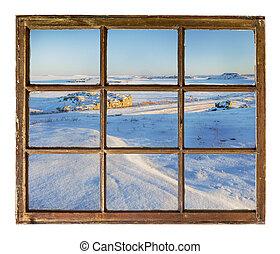 Colorado prairie abstract landscape