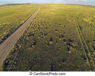 Colorado prairie aerial view - aerial view of Pawnee ...