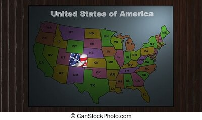 Colorado pull out from USA states abbreviations map