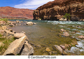 Colorado River Bank - Image of the Colorado river from the...