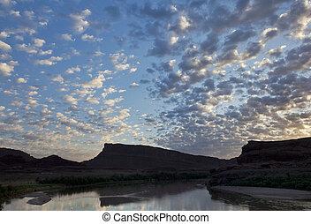 Colorado River before sunrise
