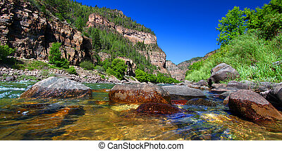 Colorado River in Glenwood Canyon