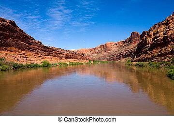 Colorado River in Utah, USA