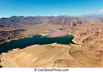 Colorado River joins Lake Mead