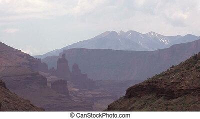 Colorado River Landscape - the colorado river flowing...