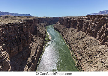 Colorado River Marble Canyon in Northern Arizona