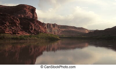 Colorado River Shore HWY 128 Arches National Park Utah