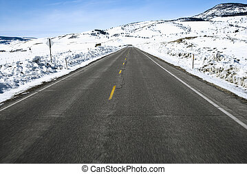 Colorado road in winter.