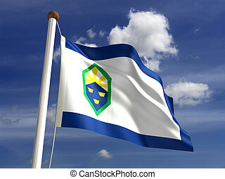 Colorado Springs City Flag - Colorado Springs flag (isolated...