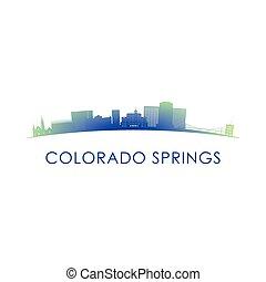 Colorado Springs skyline silhouette.