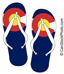 Colorado State Flag Flip Flop Shoes