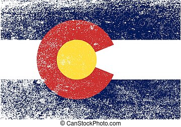 Colorado State Flag Grunge - The United States of American ...