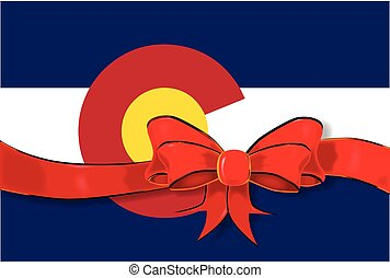 Colorado State Flag ribbon