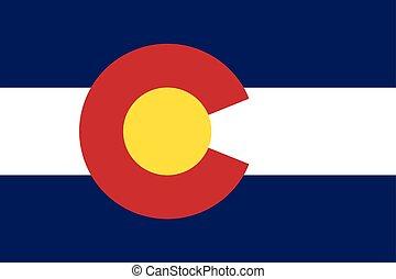 Colorado State Flag, USA. Vector Format