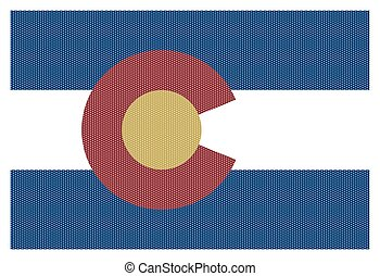 Colorado State Flag White Dots - A Colorado state flag with ...