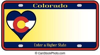 Colorado State License Plate - Colorado state license plate...