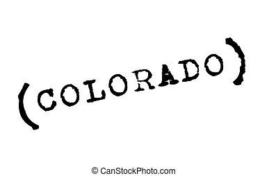 Colorado typographic stamp