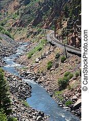 Colorado, United States. Colorado River railway line.