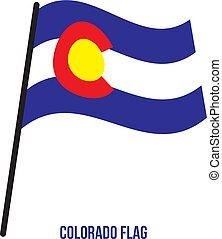 Colorado (U.S. State) Flag Waving Vector Illustration on White Background