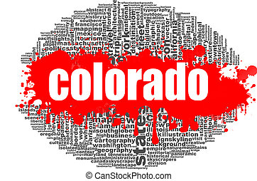 Colorado word cloud design