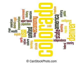 Colorado word cloud