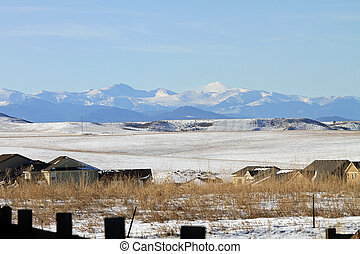 Front range of the Rocky Mountains in Colorado