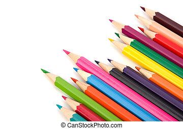 colorante, carboncillo, lápices