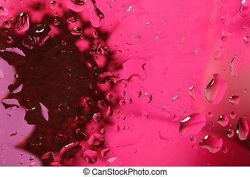 colorare, acqua, Estratto, gocce, fondo