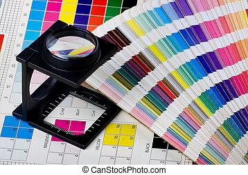 colorare, amministrazione, set